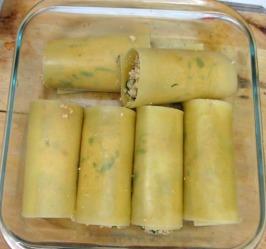 cannelloni végétaliens farcis  tofu et épinards