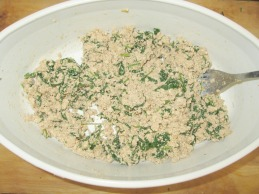 Farce tofu épinards pour cannellonis végétaliens