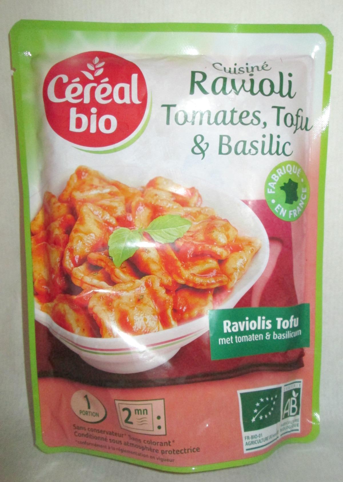 J'ai testé pour vous : les Ravioli Tomates, Tofu & Basilic de CéréalBio