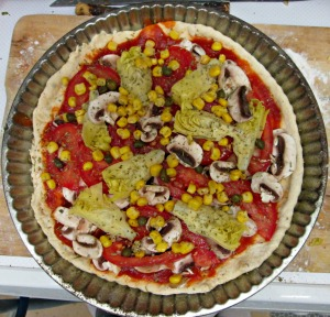 Pâte à pizza végétalienne au chou-fleur