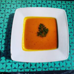 Soupe vegan potiron carotte oignon