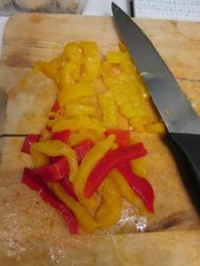 Poivron pour la tchoutchouka recette algérienne végétalienne