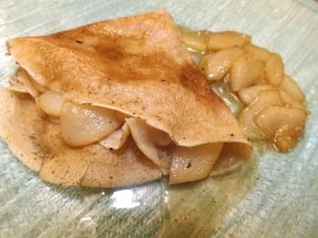 crêpes végétaliennes poire sirop