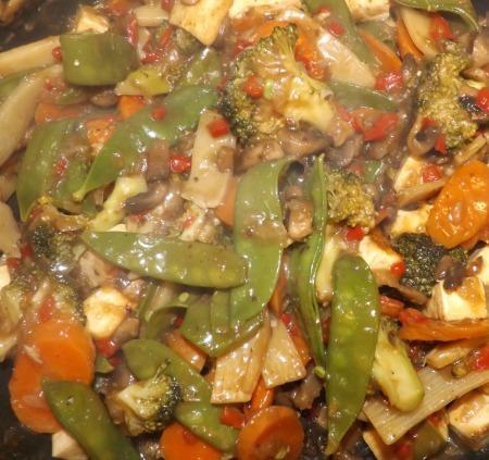 repas complet végétalien chinois
